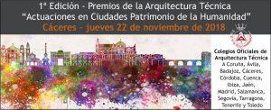 """I Edición Premios de la Arquitectura Técnica """"Actuaciones en Ciudades Patrimonio de la Humanidad"""". @ Fundación Mercedes Calles"""