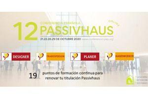 12 Conferencia Española Passivhaus - Online 21, 22, 28 y 29 de Octubre.